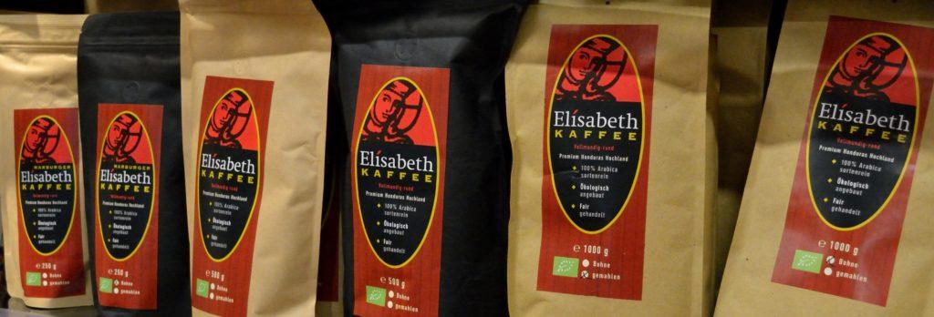 Elisabeth Kaffee Varianten in Verpackungen