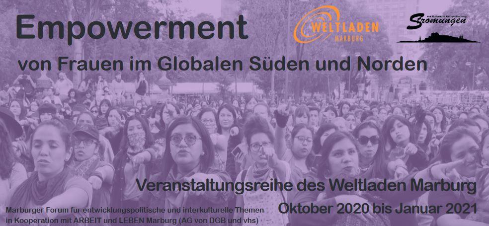 Flyer zur Veranstaltungsreihe: Empowerment von Frauen 2020
