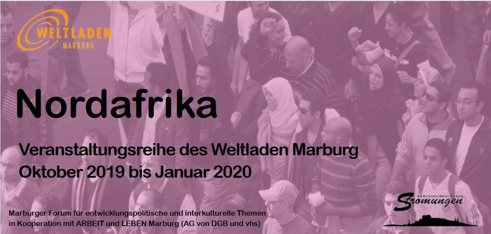 Flyer zur Veranstaltungsreihe: Nordafrika, 2019